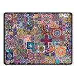Ornamental Mosaic Background Double Sided Fleece Blanket (Small)