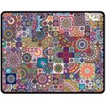 Ornamental Mosaic Background Double Sided Fleece Blanket (Medium)