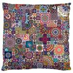 Ornamental Mosaic Background Large Flano Cushion Case (Two Sides)