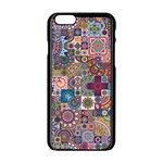 Ornamental Mosaic Background Apple iPhone 6/6S Black Enamel Case