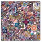 Ornamental Mosaic Background Large Satin Scarf (Square)
