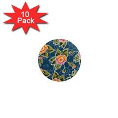 Floral Fantsy Pattern 1  Mini Magnet (10 Pack)  by DanaeStudio