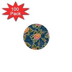 Floral Fantsy Pattern 1  Mini Buttons (100 Pack)  by DanaeStudio