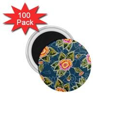 Floral Fantsy Pattern 1 75  Magnets (100 Pack)  by DanaeStudio