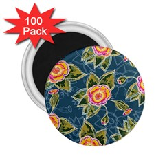 Floral Fantsy Pattern 2 25  Magnets (100 Pack)  by DanaeStudio