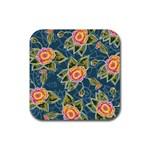 Floral Fantsy Pattern Rubber Coaster (Square)