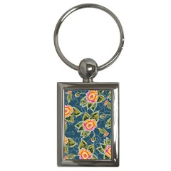 Floral Fantsy Pattern Key Chains (rectangle)  by DanaeStudio