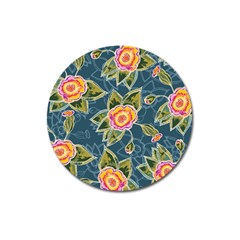 Floral Fantsy Pattern Magnet 3  (round) by DanaeStudio