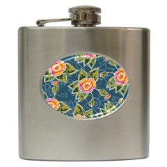 Floral Fantsy Pattern Hip Flask (6 Oz) by DanaeStudio