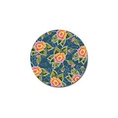 Floral Fantsy Pattern Golf Ball Marker (4 Pack) by DanaeStudio