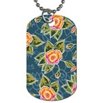 Floral Fantsy Pattern Dog Tag (Two Sides)