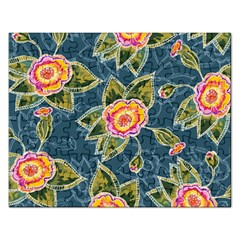 Floral Fantsy Pattern Rectangular Jigsaw Puzzl by DanaeStudio