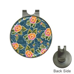 Floral Fantsy Pattern Hat Clips With Golf Markers by DanaeStudio