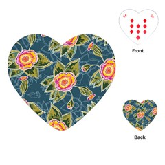 Floral Fantsy Pattern Playing Cards (heart)  by DanaeStudio