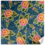 Floral Fantsy Pattern Canvas 16  x 16