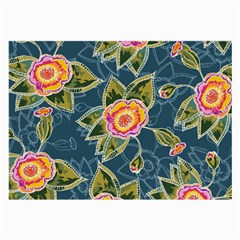 Floral Fantsy Pattern Large Glasses Cloth (2 Side) by DanaeStudio