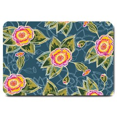 Floral Fantsy Pattern Large Doormat  by DanaeStudio