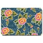 Floral Fantsy Pattern Large Doormat