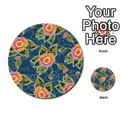 Floral Fantsy Pattern Multi Purpose Cards (round)  by DanaeStudio