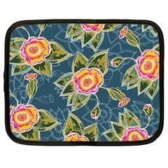 Floral Fantsy Pattern Netbook Case (large) by DanaeStudio