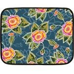 Floral Fantsy Pattern Fleece Blanket (Mini)