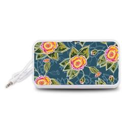 Floral Fantsy Pattern Portable Speaker (white)  by DanaeStudio