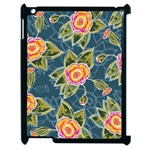 Floral Fantsy Pattern Apple iPad 2 Case (Black)