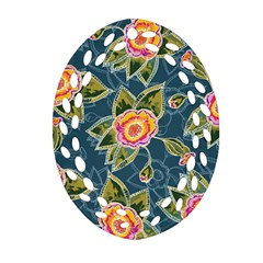 Floral Fantsy Pattern Ornament (oval Filigree)  by DanaeStudio