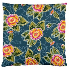 Floral Fantsy Pattern Large Cushion Case (two Sides) by DanaeStudio