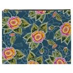 Floral Fantsy Pattern Cosmetic Bag (XXXL)