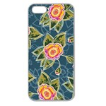 Floral Fantsy Pattern Apple Seamless iPhone 5 Case (Clear)