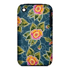 Floral Fantsy Pattern Apple Iphone 3g/3gs Hardshell Case (pc+silicone) by DanaeStudio