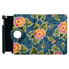 Floral Fantsy Pattern Apple Ipad 2 Flip 360 Case by DanaeStudio