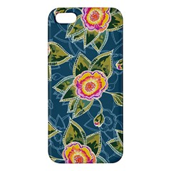 Floral Fantsy Pattern Apple Iphone 5 Premium Hardshell Case by DanaeStudio