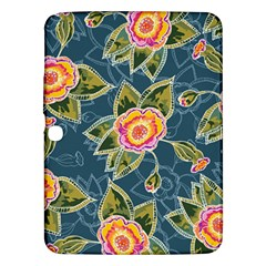 Floral Fantsy Pattern Samsung Galaxy Tab 3 (10 1 ) P5200 Hardshell Case  by DanaeStudio