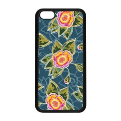 Floral Fantsy Pattern Apple Iphone 5c Seamless Case (black) by DanaeStudio