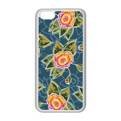Floral Fantsy Pattern Apple Iphone 5c Seamless Case (white) by DanaeStudio