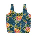 Floral Fantsy Pattern Full Print Recycle Bags (M)
