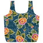 Floral Fantsy Pattern Full Print Recycle Bags (L)