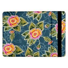 Floral Fantsy Pattern Samsung Galaxy Tab Pro 12 2  Flip Case by DanaeStudio