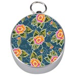 Floral Fantsy Pattern Silver Compasses