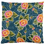 Floral Fantsy Pattern Standard Flano Cushion Case (Two Sides)
