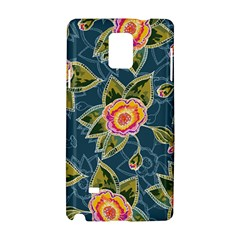 Floral Fantsy Pattern Samsung Galaxy Note 4 Hardshell Case by DanaeStudio
