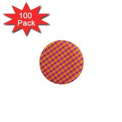 Vibrant Retro Diamond Pattern 1  Mini Magnets (100 Pack)  by DanaeStudio