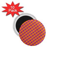Vibrant Retro Diamond Pattern 1 75  Magnets (10 Pack)  by DanaeStudio