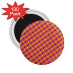 Vibrant Retro Diamond Pattern 2.25  Magnets (100 pack)