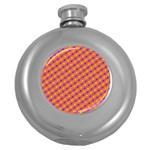 Vibrant Retro Diamond Pattern Round Hip Flask (5 oz)