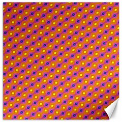 Vibrant Retro Diamond Pattern Canvas 12  X 12   by DanaeStudio
