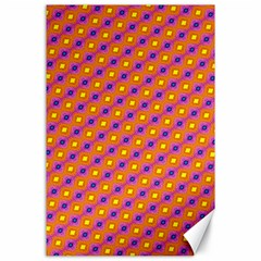 Vibrant Retro Diamond Pattern Canvas 24  X 36  by DanaeStudio