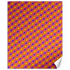 Vibrant Retro Diamond Pattern Canvas 11  X 14   by DanaeStudio